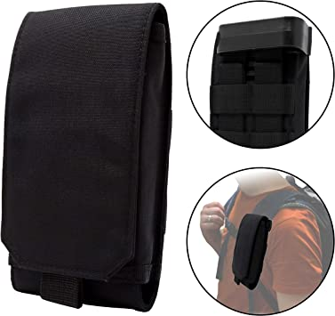 Clakit Strap-Pack: Mochila Correa de hombro Bolsillo con clip para excursionistas, motociclistas, viajeros / para todos los smartphones de tamaño normal hasta 8,5cm x 16cm - negro: Amazon.es: Deportes y aire libre