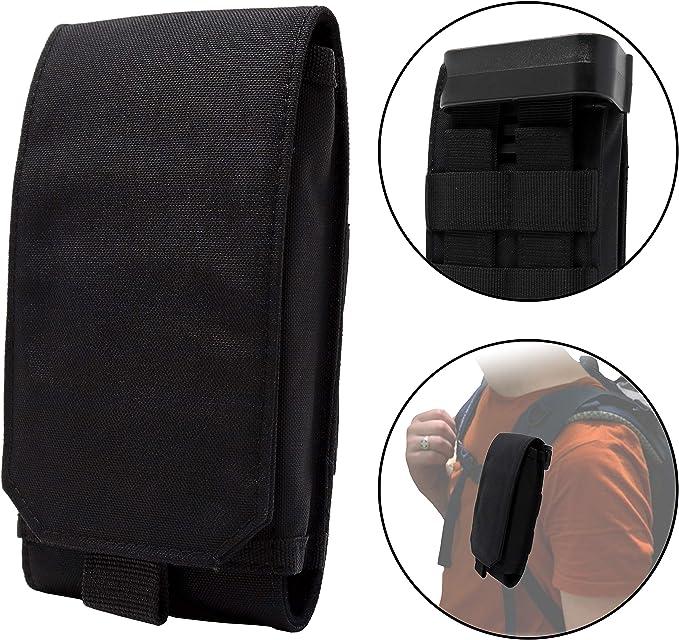 Clakit Outdoor Handy Tasche Mit Klemmhalterung Rucksack 8 5x16cm Smartphonetasche Schutzhülle Für Apple Samsung Htc Huawei Sony Schwarz Bekleidung