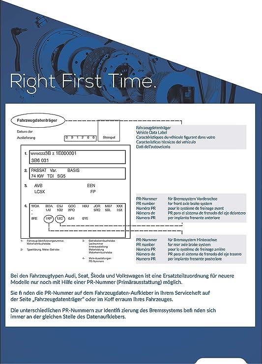 Blue Print Adv184206 Bremsbelagsatz 1 Stück Auto