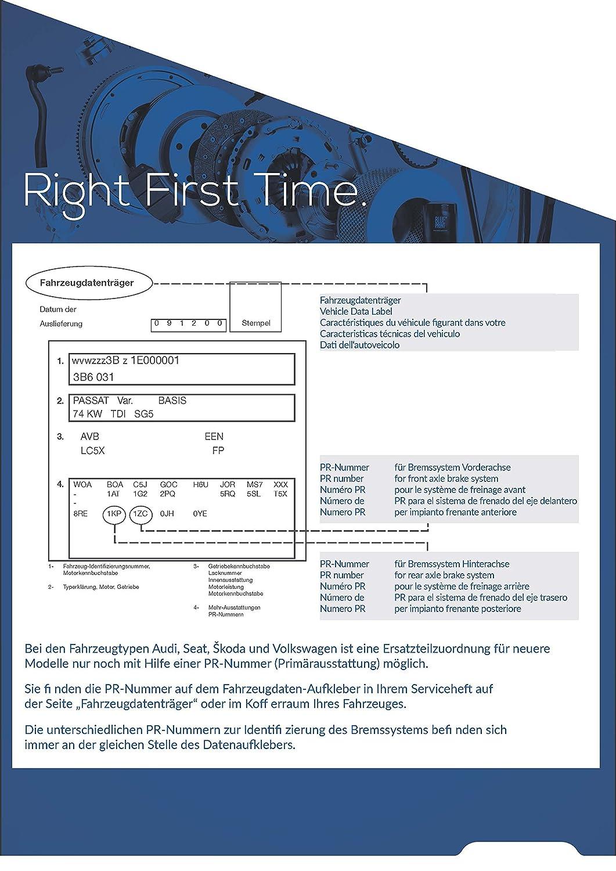 Blue Print ADV184206 Juego de pastillas de freno
