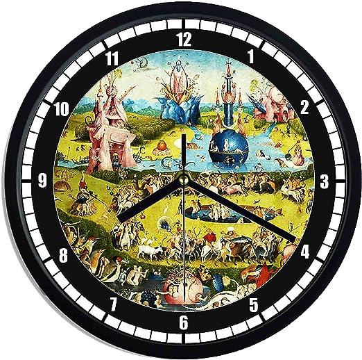 Reloj de pared de plástico Hieronymus Bosch – El Jardín: Amazon.es: Hogar