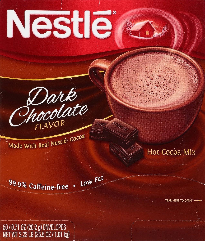Amazon.com : Nestle Hot Cocoa Mix, Dark Chocolate, 0.71-Ounce ...