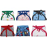 TotzTouch Softcare Premium Cotton Hosiery Cloth Reusable Wide Padded Baby Nappy/Langot Age 4 to 7 Months (Pack of 6) (Children: M)