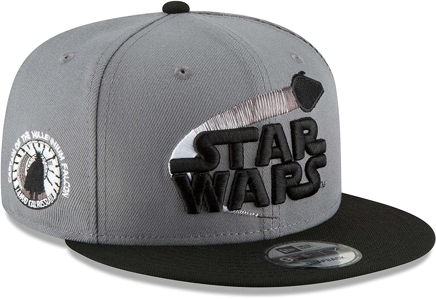 9697a2704c2 Amazon.com  Star Wars Lando Calrissian 9FIFTY Snapback Hat Storm Grey   Clothing