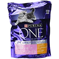 Purina ONE Kitten Dry Cat Food Chicken and Wholegrain 800g - Case of 4 (3.2kg)