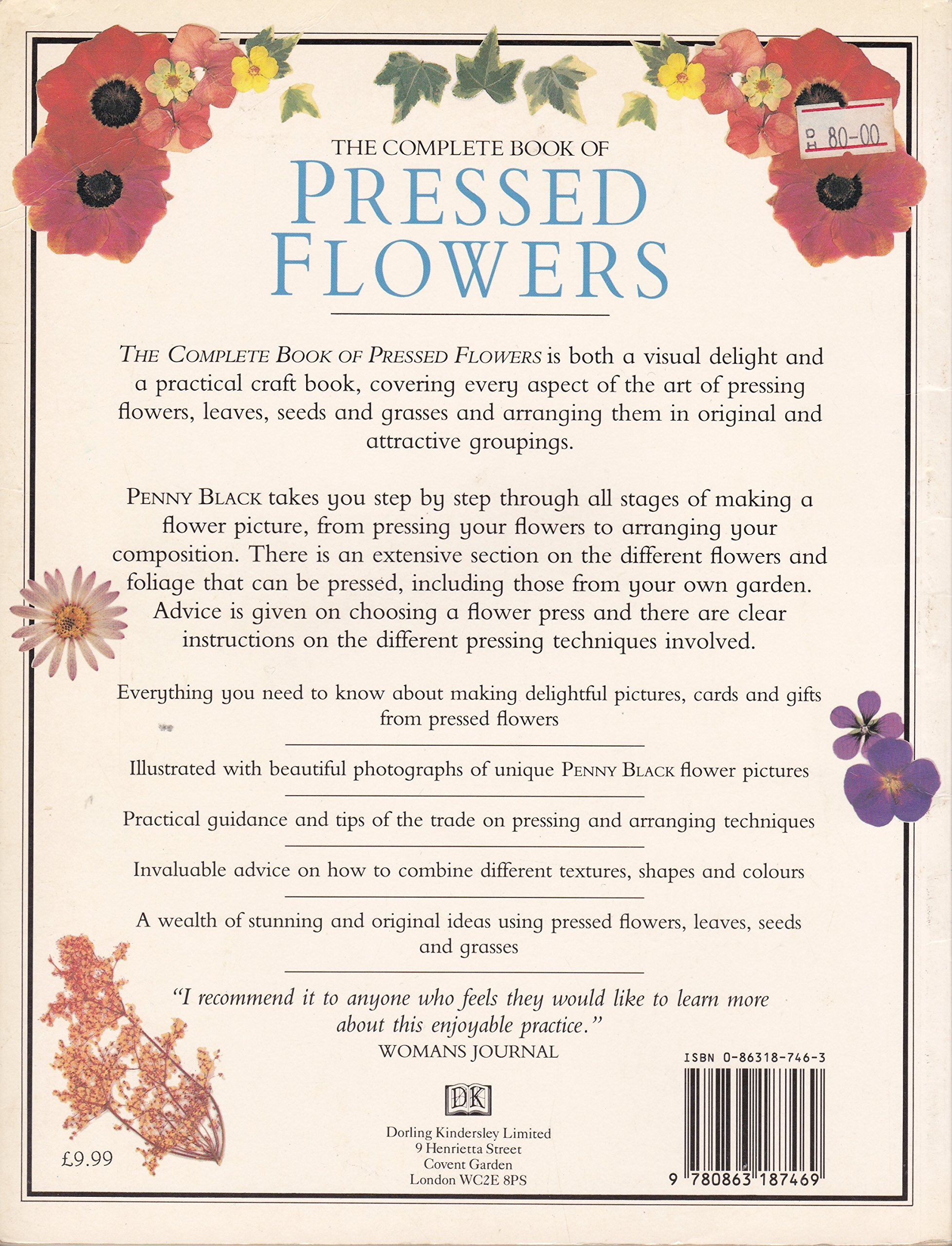 The Complete Book Of Pressed Flowers Penny Black 9780863187469