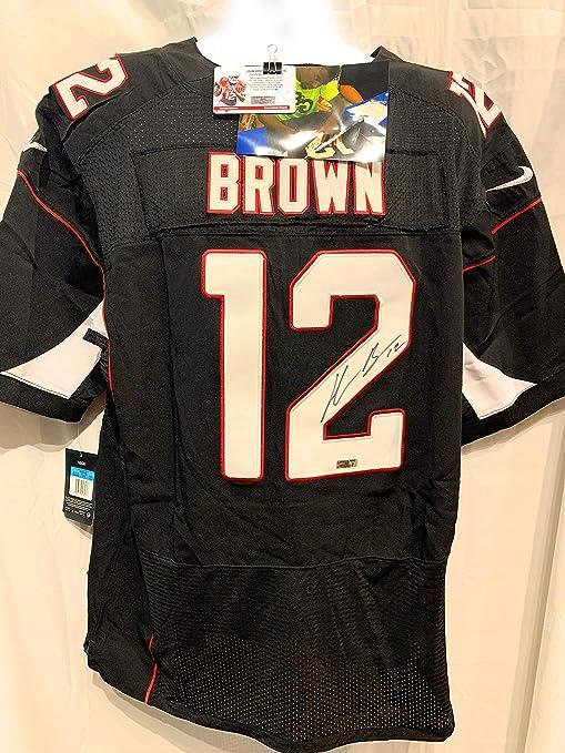 084b37284110 John Brown Arizona Cardinals Signed Autograph Nike Jersey Black JBrown  Certified