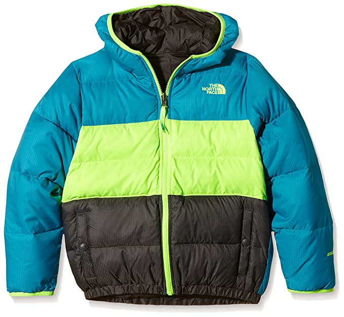 5502101dd THE NORTH FACE Big Boy's Reversible Moondoggy Jacket, Enamel Blue ...