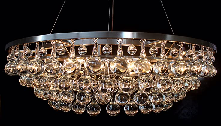 Or402 custom made 4 tier clear round murano glass teardrop or402 custom made 4 tier clear round murano glass teardrop chandelier lamp aloadofball Choice Image