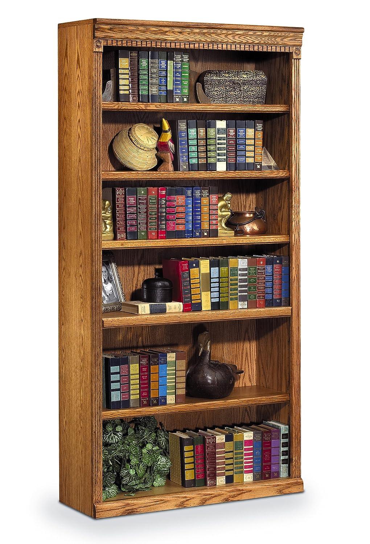 Amazon com martin furniture huntington oxford 72 open bookcase wheat finish fully assembled kitchen dining