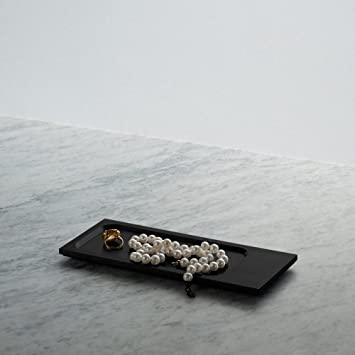 Bearbeitete Tablett Schwarz Solid Metall Deko Tablett In A