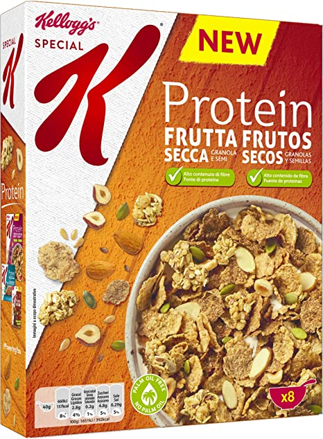 Kelloggs Special K Protein Frutos secos Cereales - 330 g: Amazon ...