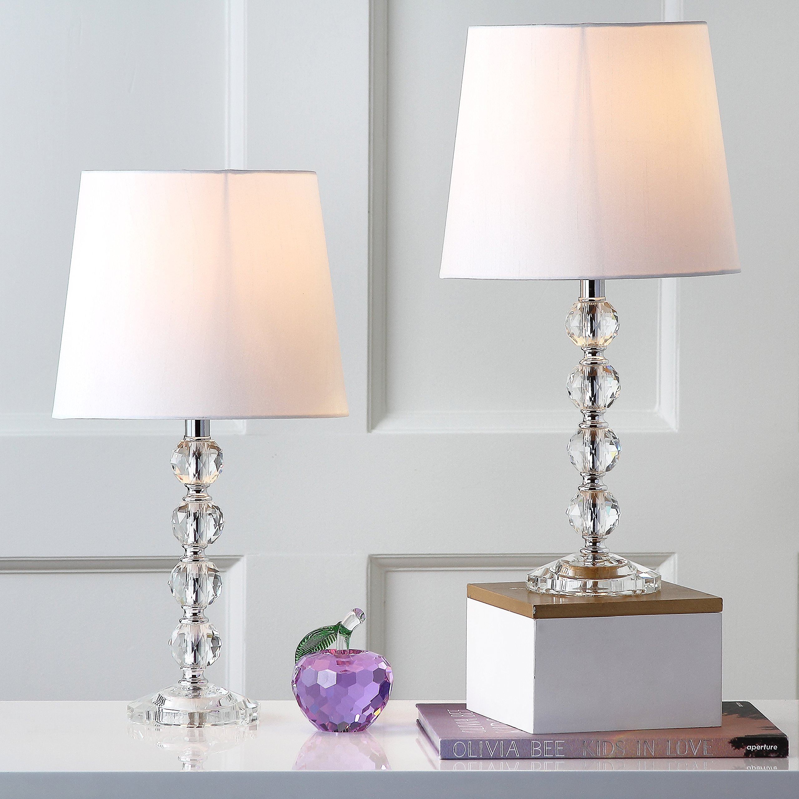 Safavieh Lighting Collection Nola Stacked Crystal Ball 16-inch Table Lamp (Set of 2) by Safavieh (Image #2)