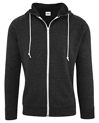 28a7070a17222 Casual Garb Hoodies for Men Snow Heather French Terry Full Zip Hoodie  Hooded Sweatshirt Black X