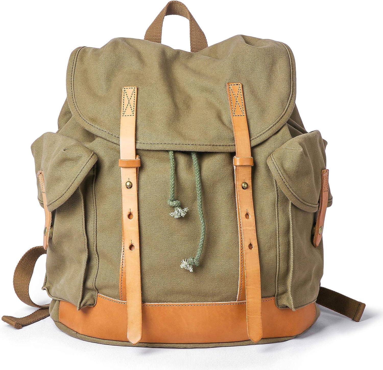 Orange CTG Cute Vintage Mini Retro Canvas Backpack for Travel or School