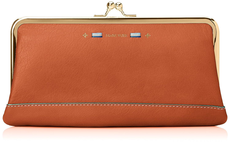[フレームワーク] 長財布 「ワンアクション」がま口型長財布 0048713 B078HBNQFY オレンジ オレンジ