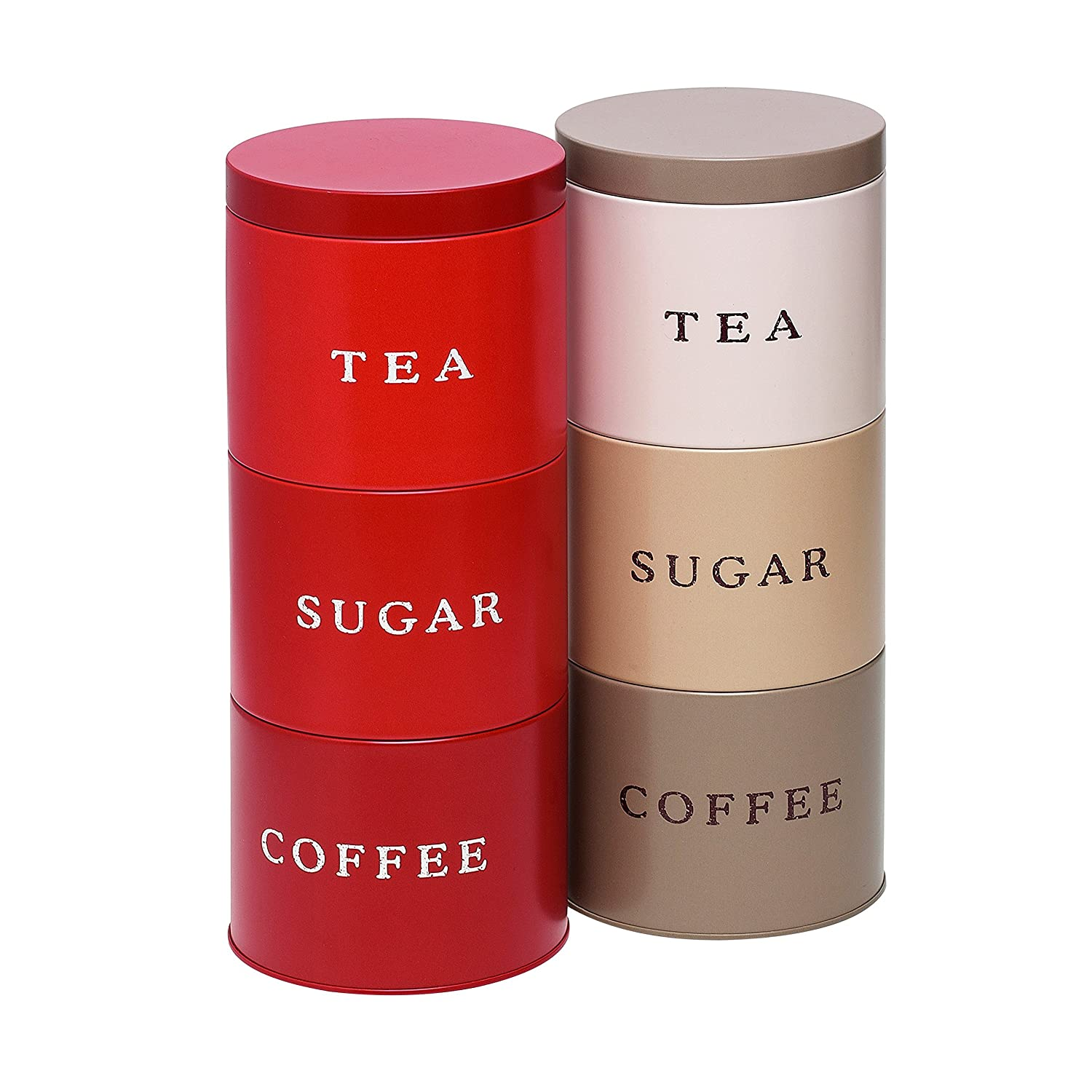 stacking stackable tea coffee sugar food kitchen storage canister