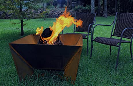 Dezen Cor-ten Steel Fire Pit - Wood Burning - Amazon.com : Dezen Cor-ten Steel Fire Pit - Wood Burning : Garden