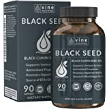 Premium Black Seed Oil Capsules - Nigella Sativa - Immune System Support Soft Gels | Cold Pressed Antioxidant Vegetarian Black Cumin Supplement | 500MG Made In The USA By Vine Nutrition