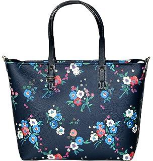 0ab9ef8e3b3 Tory Burch Kerrington Small Zip Tote Leather Women s Handbag Pansy Bouquet