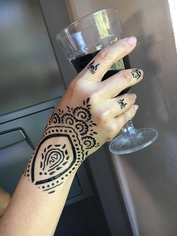Mehandi Kit de 5 plantillas 5 con diseños de Henna para manos ...