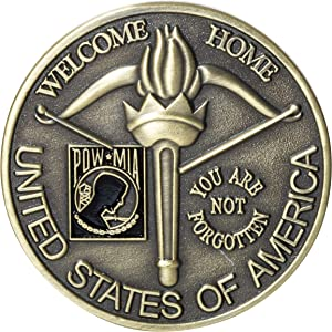 United States of America USA Military Vietnam Service Medal You are Not Forgotten Welcome Home POW MIA Challenge Coin