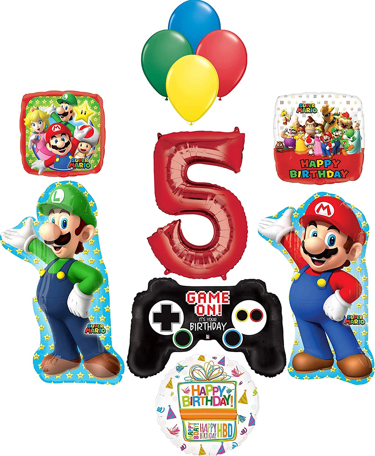 SUPER MARIO AGE 5 TODAY 5TH BIRTHDAY CARD NEW GIFT