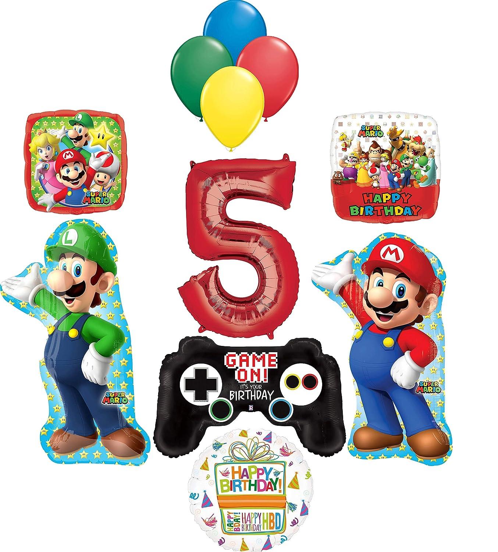 Super Mario Brothers Suministros de fiesta 5º cumpleaños ...