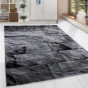 Amazon.de: HomebyHome Moderner Design Stein Mauer Guenstige Teppich ...