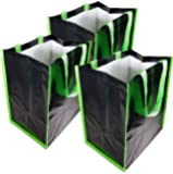 "Reusable Grocery Bags""100-POUNDER"" Extra Heavy Duty 3-PACK Grocery Bag Sack Foldable 100-lb Capacity 12.5 L X 9W X 15H Inches"