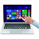 Toshiba PSUC2E-002003GR KIRA-107 33,78 cm (13,3 Zoll) Notebook (Intel Core i7 5500U, 8GB RAM, 256GB SSD, Intel HD Graphics 5500, Win 8.1 Touchscreen) silber
