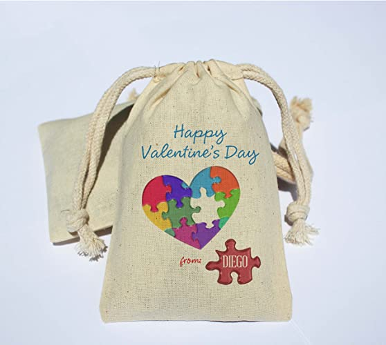 valentines day favor bags kids school valentines valentines day muslin bag happy valentines - Valentine Bags For School