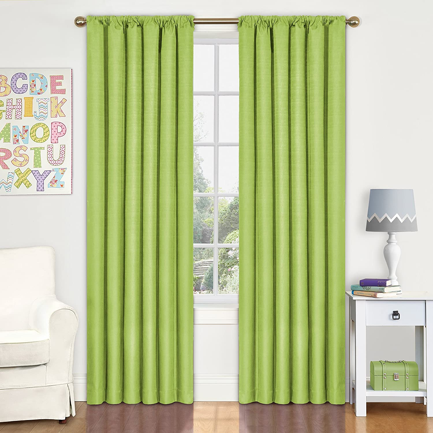 Amazon.com: Eclipse 10707042X063LIM Kendall 42 Inch By 63 Inch Thermaback  Room Darkening Single Panel, Lime: Home U0026 Kitchen