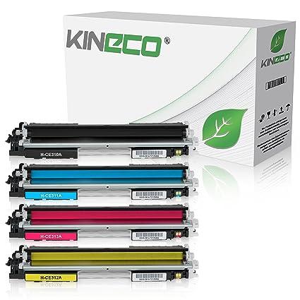 4 Kineco Toner kompatibel zu HP CE310A CE311A CE312A CE313A ...