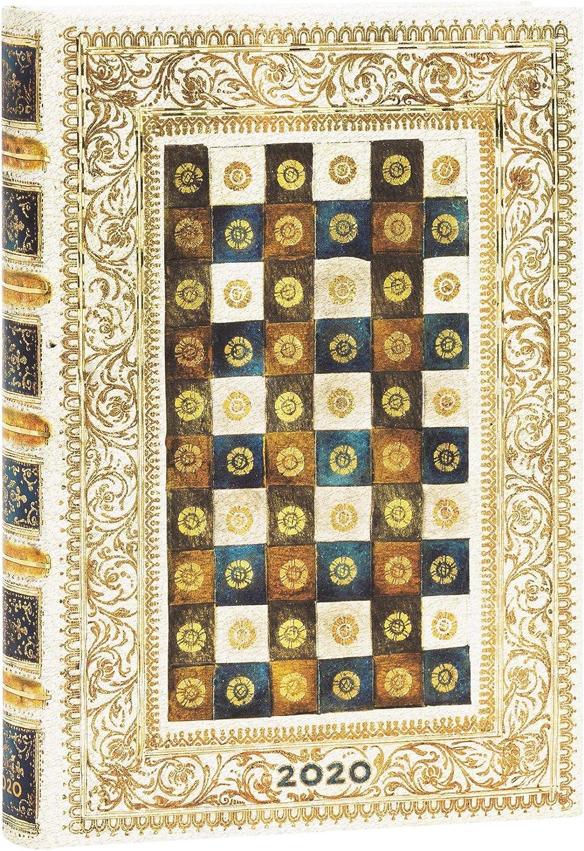Aureo |Tages/überblick Midi Paperblanks 12-Monatskalender 2020 180 x 130 mm