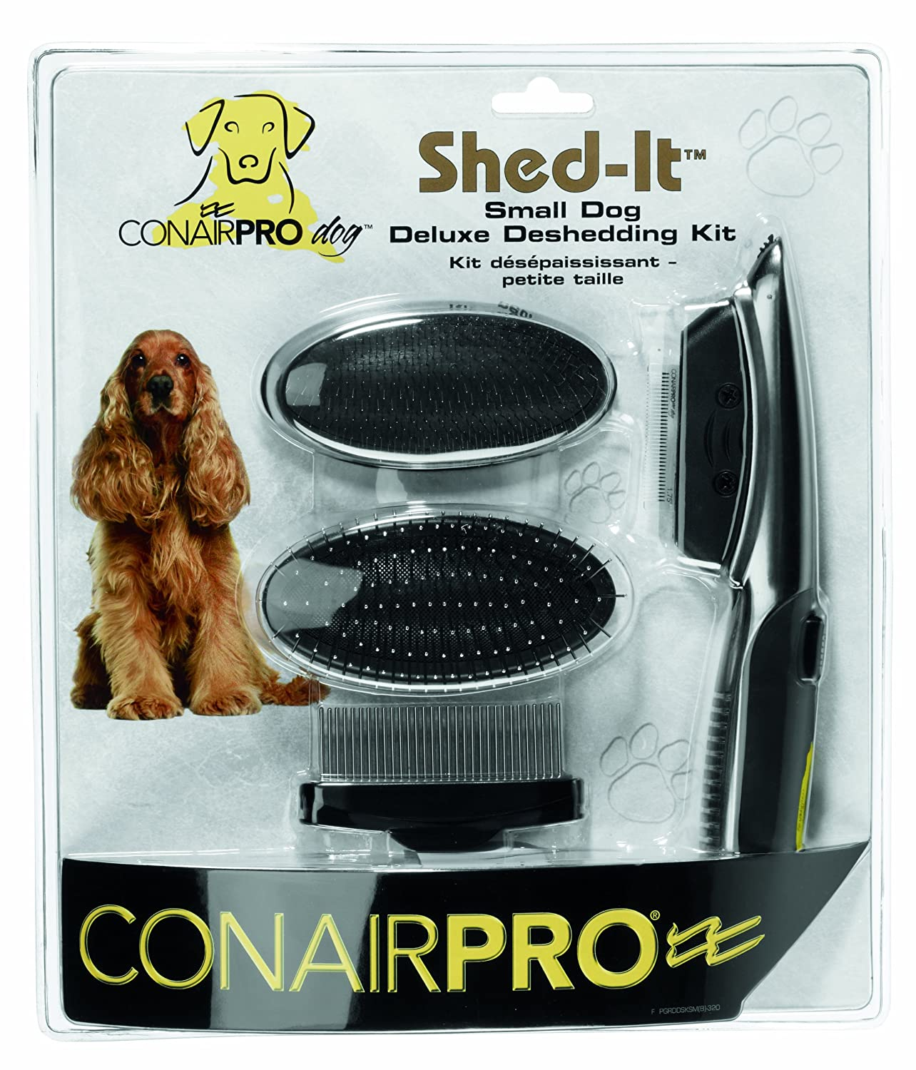 ConairPRO Dog Small Dog Deluxe Deshedding Kit