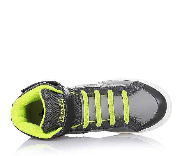 Amazon.com: CONVERSE Pro Blaze Strap Hi LEATHER FABRIC GREY LIME 655093C eu36: Shoes