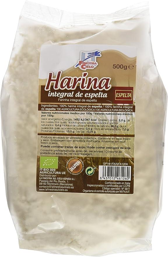 La Finestra Sul Cielo Harina Integral de Espelta - Paquete de 6 x ...
