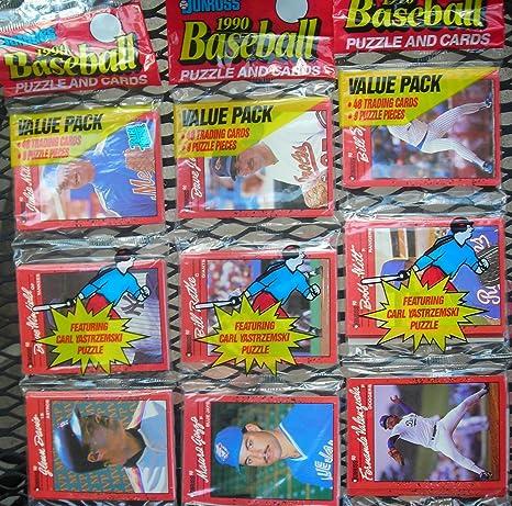 Amazoncom Three 3 1990 Donruss Baseball Puzzle And Cards