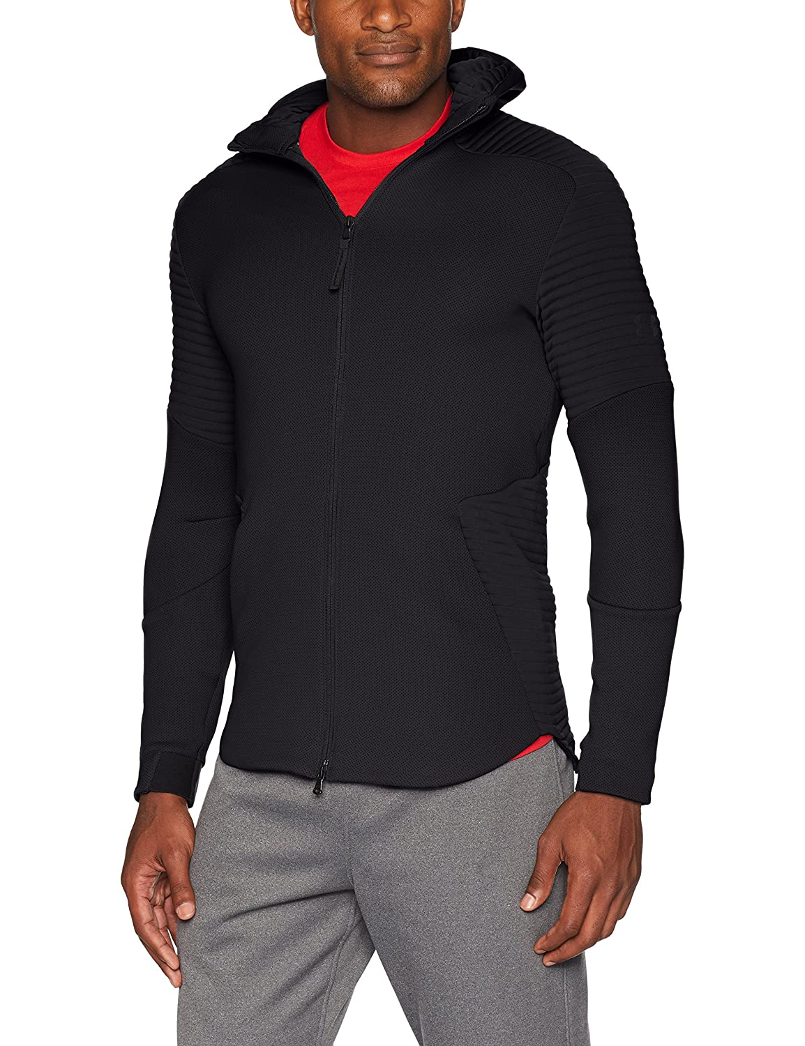 Amazon.com: Under Armour Mens Move Airgap Full Zip Hood ...