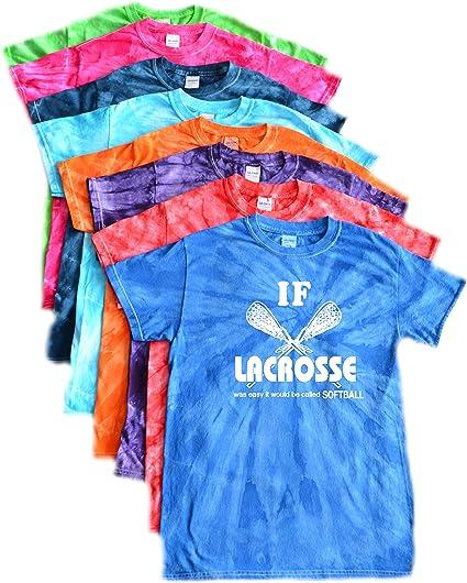 JANT girl Lacrosse Tie Dye T-Shirt White LAX Logo