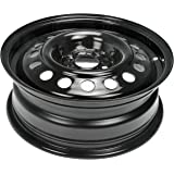 Dorman Black Wheel with Painted Finish (15 x 5.5 inches /4 x 3 inches, 40 mm Offset)