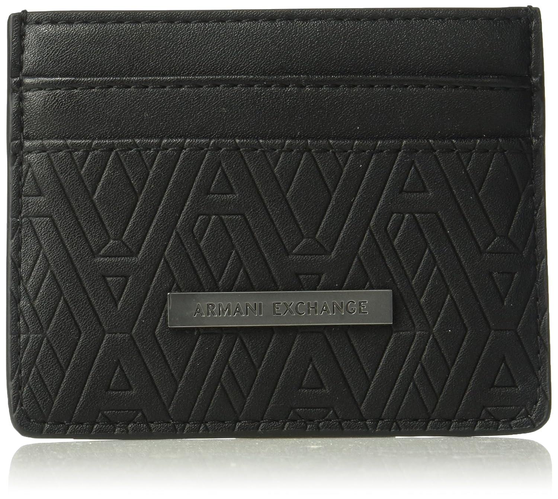 A X Armani Exchange Men's Embossed Card Holder Black Print ax TU 9580538P204
