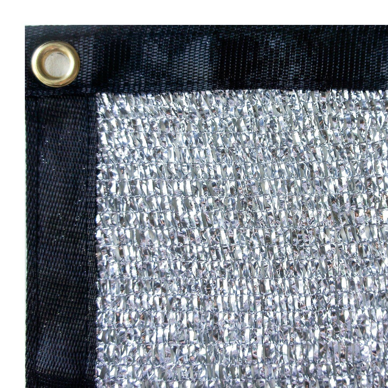 Stone Shade & Tarps 80% Aluminet Shade Net + 10pcs strong magnets 12x18