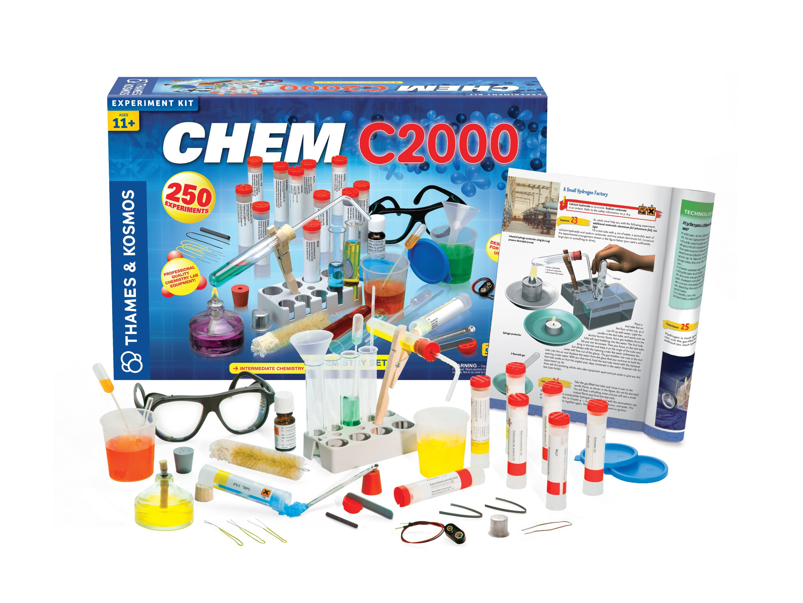 Thames & Kosmos Chem C2000 (V 2.0) Chemistry Set with 250 Experiments and 128 Page Lab Manual, Student Laboratory Quality Instruments & Chemicals by Thames & Kosmos (Image #2)