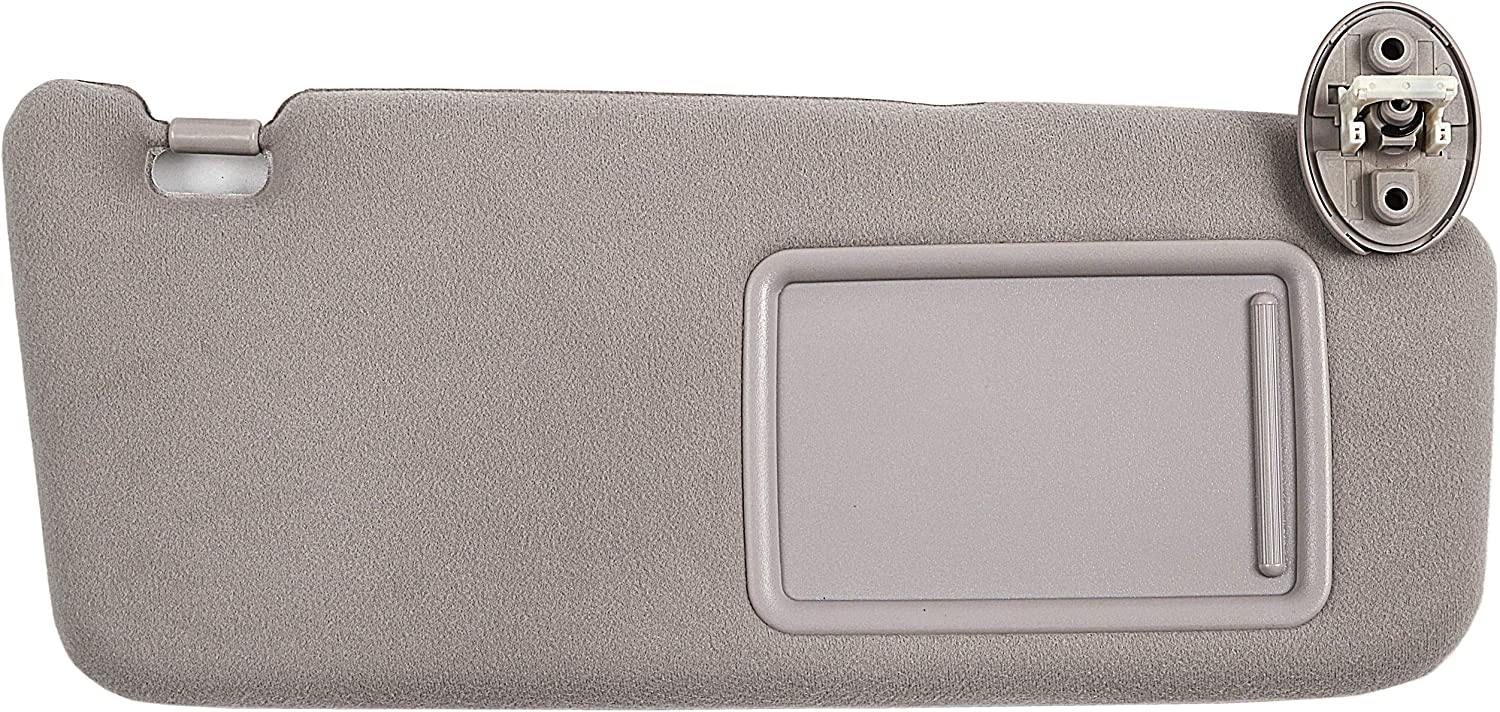 Ezzy Auto Light Gray Right Passenger Side Sun Visor fit for Toyota Venza with Sunroof 2009 2010 2011 2012 2013 2014 2015 2016