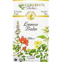 Celebration Herbals Lemon Balm Herb Tea Organic 24 Tea Bag, 26Gm