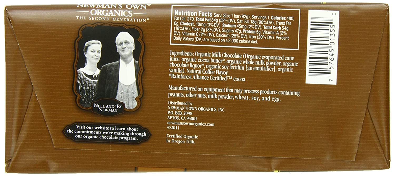 Amazon.com : Newman's Own Organics Organic Premium Chocolate Bar ...