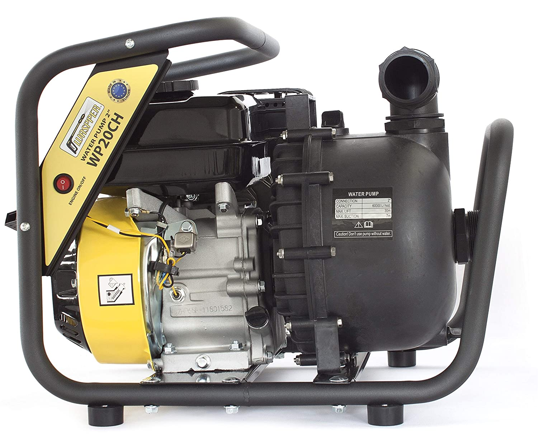 ✦ WASPPER WP20CH-P ✦ Bomba de Agua Limpia y Quí mica De Uso Rudo & Portable con Tasa de Flujo de 60 000 l/hr ✦ Elevació n de Agua de 30 m ✦ 3 600 RPM Motor de Gasolina de 4 Tiempos y Accesorios incluidos