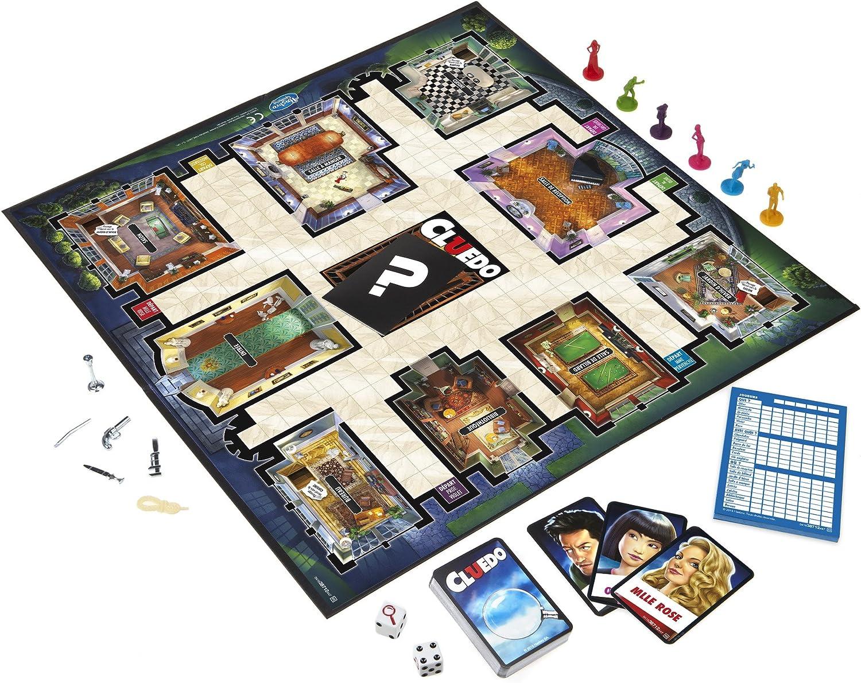 Hasbro 38712 Cluedo soirée jeux de jeunes adultes Français Français Bien